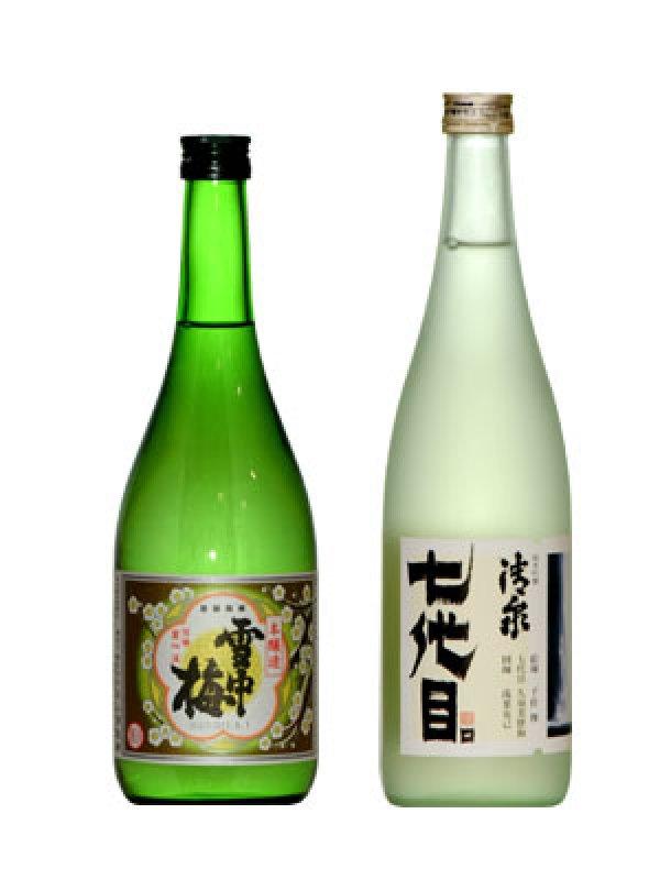 画像1: 雪中梅本醸造(720ml)+清泉純米吟醸「七代目」(720ml) (1)
